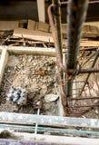 Ράβδοι χάλυβα στη τοπ άποψη εργοτάξιων οικοδομής Στοκ φωτογραφία με δικαίωμα ελεύθερης χρήσης