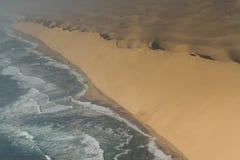 Ράβδος αμμόλοφων στην ακτή σκελετών Στοκ Εικόνα
