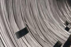 Ράβδος χαλύβδινων συρμάτων - σπείρες χάλυβα Στοκ Εικόνες