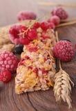 Ράβδος granola ράβδων δημητριακών Στοκ φωτογραφία με δικαίωμα ελεύθερης χρήσης