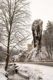 Ράβδος Hercules στο Pieskowa Skala (Πολωνία) Στοκ Εικόνες