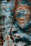 ράβδων εστίαση που αφήνεται τη βαθύτερη τη σύσταση σκουριάς υπολοίπου Ζωηρόχρωμο σκουριασμένο παλαιό γρατσουνισμένο κατασκευασμέν Στοκ Εικόνες