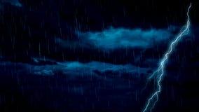 Ράβδωση της βροχής αστραπής απόθεμα βίντεο