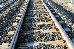 Ράγες σιδηροδρόμου στοκ φωτογραφία με δικαίωμα ελεύθερης χρήσης