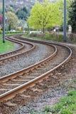 Ράγες τραμ Στοκ Εικόνες