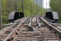 Ράγες τραμ Strathcona Στοκ εικόνα με δικαίωμα ελεύθερης χρήσης