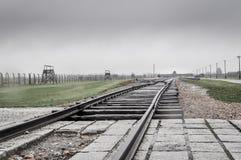 Ράγες Birkenau AUschwitz Στοκ εικόνες με δικαίωμα ελεύθερης χρήσης