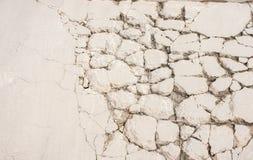 Ράγισμα του τσιμεντένιου πατώματος τσιμέντου στοκ εικόνες