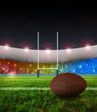 ράγκμπι ποινικής ρήτρας νύχτ&a διανυσματική απεικόνιση