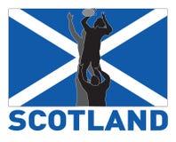 ράγκμπι Σκωτία γραμμών σημα&iot διανυσματική απεικόνιση