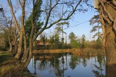 Ράγκμπι Warwickshire βασιλιάδων αντανακλάσεων νερού newnham στοκ φωτογραφίες με δικαίωμα ελεύθερης χρήσης