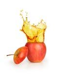 Ράντισμα χυμού της Apple Στοκ Εικόνα