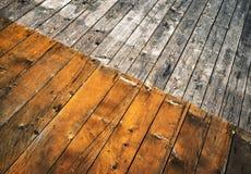 Ράπισμα δύο έγχρωμοι ξύλινοι πίνακες πατωμάτων Στοκ Εικόνες