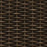 Ράστερ άνευ ραφής σχέδιο ύφανσης καλαθιών ξύλινο Στοκ φωτογραφία με δικαίωμα ελεύθερης χρήσης