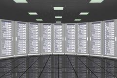 Ράφια δωματίων κεντρικών υπολογιστών Στοκ Εικόνες