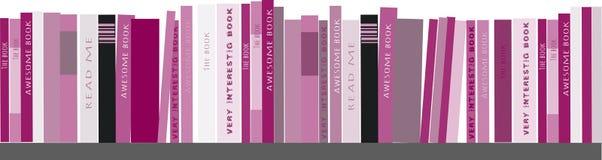 Ράφια με τα βιβλία Διανυσματική ανασκόπηση Στοκ φωτογραφίες με δικαίωμα ελεύθερης χρήσης