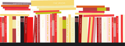 Ράφια με το υπόβαθρο απεικόνισης βιβλίων Διανυσματική εικόνα αποθεμάτων Στοκ εικόνα με δικαίωμα ελεύθερης χρήσης