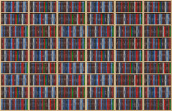 ράφι βιβλίων άπειρο Στοκ Εικόνες