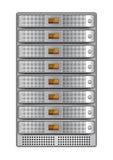 Ράφι εγκαθ:ιστώ-4 κεντρικών υπολογιστών Στοκ Εικόνες