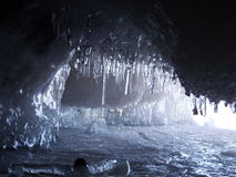 ράφι εικόνων πάγου κρυστάλλων της Ανταρκτικής που λαμβάνεται Στοκ εικόνα με δικαίωμα ελεύθερης χρήσης