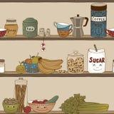 Ράφι κουζινών Στοκ φωτογραφίες με δικαίωμα ελεύθερης χρήσης
