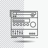 ράφι, συστατικό, ενότητα, ήχος, εικονίδιο γραμμών στούντιο στο διαφανές υπόβαθρο Μαύρη διανυσματική απεικόνιση εικονιδίων ελεύθερη απεικόνιση δικαιώματος