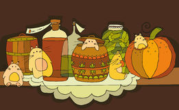 ράφι τρωκτικών τροφίμων Στοκ Εικόνες