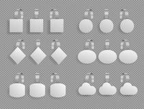 Ράφι wobbler Προώθηση πώλησης υπεραγορών που δείχνει το σημάδι τιμών ράφια αγοράς ετικεττών Άσπρος κύκλος εγγράφου ετικεττών σημε διανυσματική απεικόνιση