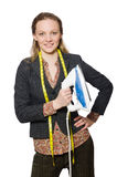 Ράφτης γυναικών που απομονώνεται Στοκ Φωτογραφίες