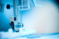 ράψιμο μηχανών ποδιών Στοκ Εικόνες