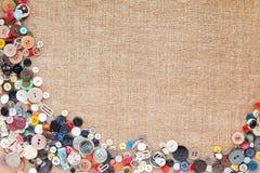 ράψιμο πλαισίων κουμπιών Στοκ Εικόνες