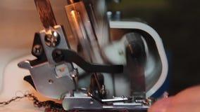 Ράψιμο στο ράψιμο machin απόθεμα βίντεο
