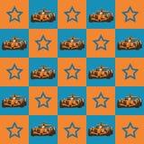 Ράλι και αστέρι πρότυπο Στοκ Εικόνα