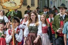 Ρέγκενσμπουργκ, Γερμανία, Mai 10, 2018, πομπή Maidult στο Ρέγκενσμπουργκ, Γερμανία Στοκ φωτογραφία με δικαίωμα ελεύθερης χρήσης