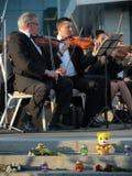 Ρέκβιεμ για τα θύματα της πτήσης MH17 Συμφωνική ορχήστρα Kharkov Στοκ φωτογραφία με δικαίωμα ελεύθερης χρήσης
