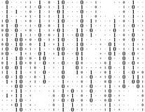 Ρέοντας διανυσματικό υπόβαθρο δυαδικού κώδικα Κωδικοποίηση ή έννοια χάκερ Στοιχεία και τεχνολογία, αποκρυπτογράφηση και κρυπτογρά διανυσματική απεικόνιση
