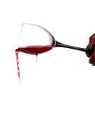 ρέοντας κρασί Στοκ εικόνα με δικαίωμα ελεύθερης χρήσης