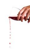 ρέοντας κρασί Στοκ Φωτογραφίες