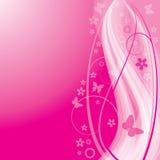 ρέοντας ροζ ανασκόπησης Διανυσματική απεικόνιση