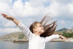ρέοντας τρίχωμα κοριτσιών Στοκ Εικόνα