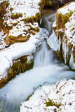 ρέοντας ύδωρ χιονιού πάγο&upsilo Στοκ φωτογραφία με δικαίωμα ελεύθερης χρήσης