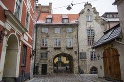 Ρήγα, Λετονία - 1 Ιανουαρίου 2016: Η πύλη πόλεων Στοκ φωτογραφία με δικαίωμα ελεύθερης χρήσης