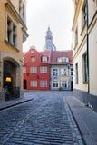 Ρήγα, Λετονία, στις 20 Απριλίου 2019 - παλαιό κέντρο πόλεων της Ρήγας στοκ εικόνα με δικαίωμα ελεύθερης χρήσης