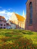 Ρήγα παλαιά πόλη Χρόνος βραδιού Καλοκαίρι 2015 Στοκ φωτογραφίες με δικαίωμα ελεύθερης χρήσης