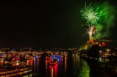 Ρήνος στις φλόγες Στοκ φωτογραφίες με δικαίωμα ελεύθερης χρήσης