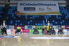 Ρίο 2016 - διεθνές πρωτάθλημα ράγκμπι αναπηρικών καρεκλών Στοκ Εικόνα