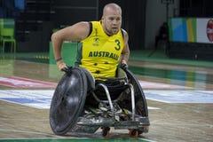 Ρίο 2016 - διεθνές πρωτάθλημα ράγκμπι αναπηρικών καρεκλών Στοκ εικόνα με δικαίωμα ελεύθερης χρήσης