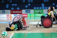 Ρίο 2016 - διεθνές πρωτάθλημα ράγκμπι αναπηρικών καρεκλών Στοκ Εικόνες