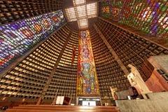 Ρίο ντε Τζανέιρο Βραζιλία του ST Sebastian καθεδρικών ναών Στοκ εικόνες με δικαίωμα ελεύθερης χρήσης