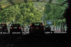 Ρίο ντε Τζανέιρο Βραζιλία σηράγγων αυτοκινήτων Στοκ Εικόνες